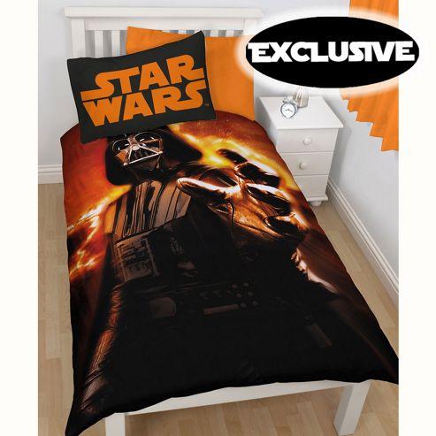 Star Wars Darth Vader Rise Single Duvet Cover and Pillowcase Set