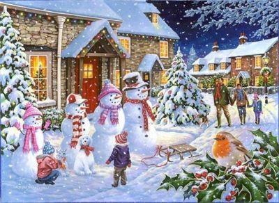 Snow Family - 1000pc Puzzle