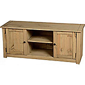 Panama 2 Door 1 Shelf Flat Screen TV Unit Natural Wax