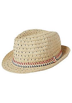 F&F Chevron Hatband Trilby - Sand