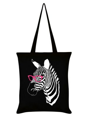 Clever Stripes Tote Bag 38x42cm, Black