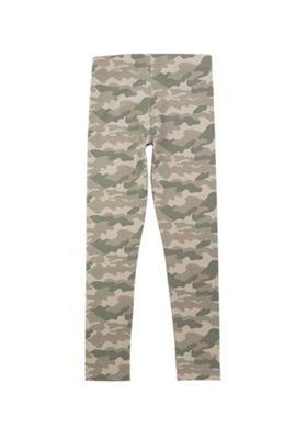 F&F Camouflage Print Leggings Khaki 6-7 years