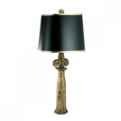 Black And Gold Table Lamp - 1 x 100W E27