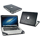 "Black Faux Leather Case Cover For The Apple Macbook Pro 13.3"" Inch"