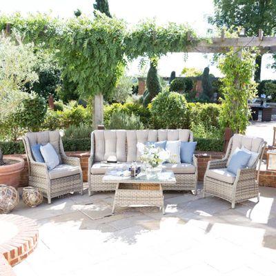 Maze Rattan - Oyster 3 Seat High Back Rattan Sofa Set