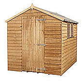 8 x 6 Sutton Overlap Apex Single Door Shed + 2 Windows Garden Wooden Shed 8ft x 6ft (2.44m x 1.83m)