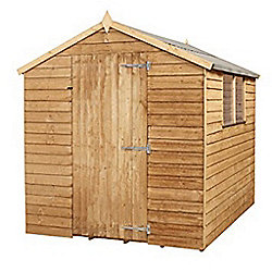 8 x 6 sutton overlap apex single door shed 2 windows garden wooden shed 8ft x 6ft 244m x 183m fast delivery pick a day
