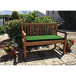 Two Seater Bench Cushion Forest Green