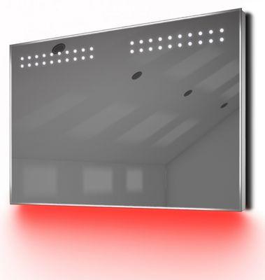 Bathroom Shaver Mirror with UnderLighting, Bluetooth, Demist & Sensor k14sRaud