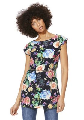 Solo Floral Print Tunic with Belt Multi 12