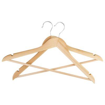 pack of 20 wooden hangers