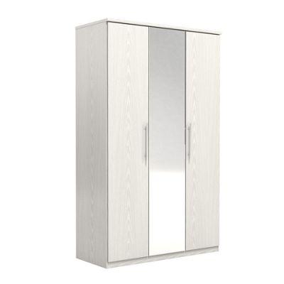 Urbane Designs Prague 3 Door Wardrobe - White