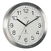 Acctim 74337 Mason Radio Controlled Wall Clock - Silver