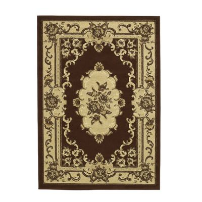 Oriental Carpets & Rugs Marakesh Brown Rug - 150cm L x 80cm W