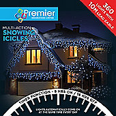 Premier 360 Multi Action Snowing Icicles LED Lights with Timer - Blue & White