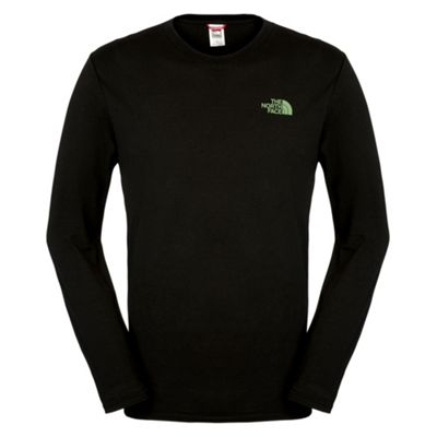 The North Face Mens Long Sleeve Easy Tee Black L