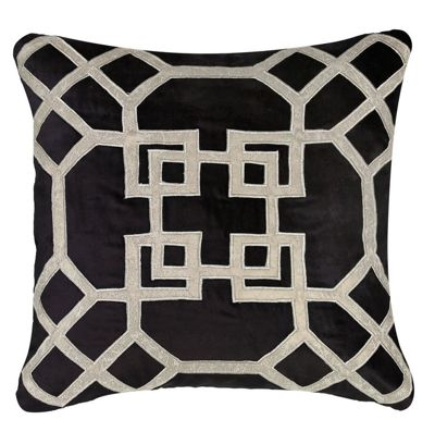 Great Fld Cushion 549 50x50 Velvet Geo