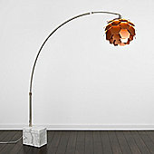 MiniSun Arkos 200cm Marble Floor Lamp with Artichoke Shade