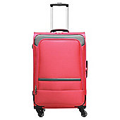 Tesco Majorca 4 Wheel Lightweight Hot Pink Cabin Case