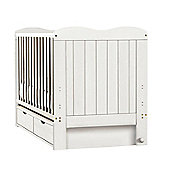 Saplings Glideaway Cot Bed - White