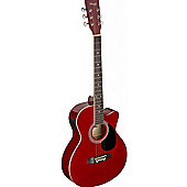 Stagg Auditorium Electro-Acoustic Guitar - Red