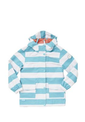 Regatta Betulia Waterproof Hooded Jacket Blue/White 11-12 years