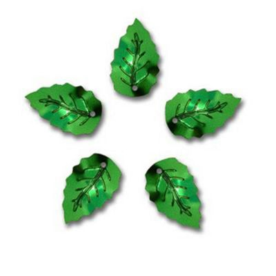 Leaf Seq 18mm Emerald 2g