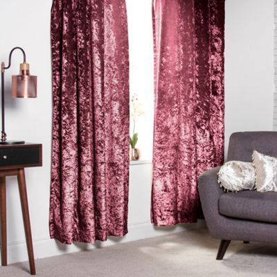 Mulberry Crushed Velvet Heavyweight Curtains 66