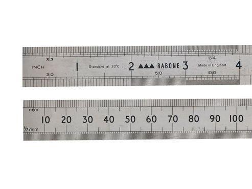 Stanley 64R Rustless Steel Rule 300 mm/12 inch 0-35-401
