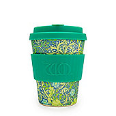 Ecoffee Cup & William Morris Seaweed Marine with Turquoise Silicone 12oz