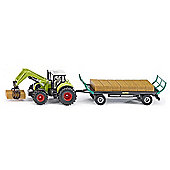 Claas Tractor With Bale Trailer