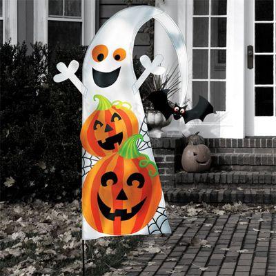 Halloween Friendly Yard Flag - 1.4m