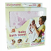 Clevamama Mother & Baby Bath Towel - Pink
