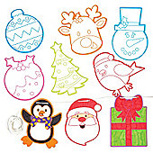 Christmas Colour-in Bunting for Children to Make Decorate and Hang - Make Your Own Creative Xmas Party Hanging Decoration (Pack of 24)