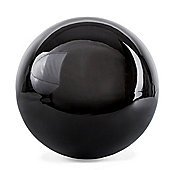 Polished Black Stainless Steel 18cm Garden Sphere Gazing Ball Ornament
