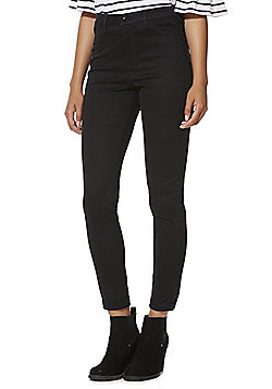 F&F High Rise Push-Up Skinny Jeans - Black