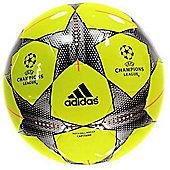 adidas UEFA Champions League Finale 15 Capitano (Yellow) Size 5 Football