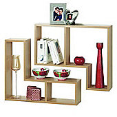 Twin - Display / Storage Shelves - Set Of Two - Oak