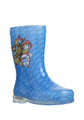 Nickelodeon Paw Patrol Light-Up Wellies Child 6 Blue