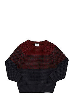 F&F Colour Block Jumper - Red