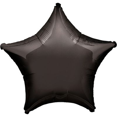 Black Star Balloon - 19 inch Foil