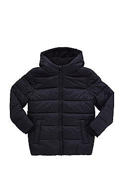 F&F Fleece Lined Padded Jacket - Black