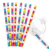 Cool Cupcakes Scented Pencils School Set for Children - Fun Party Bag Filler Loot Gifts for Kids (Pack of 8)