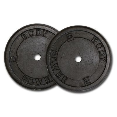 Body Power Cast Iron Standard (1 Inch) Discs - 10kg (x2)