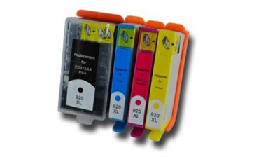 1 Set of HP 920 XL Chipped Compatible Ink Cartridges for HP Photosmart