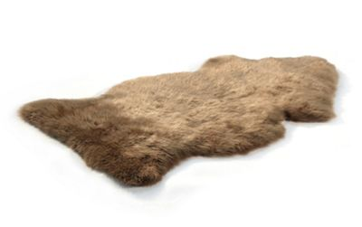 Bowron Sheepskin Long Wool Gold Star Rug in Paco - 95cm H x 57cm W (One Piece)