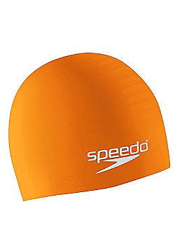 Speedo Silicone Moulded Swimming Cap Junior Kids - Orange