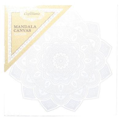 CraftMania Mandala Canvas Art Therapeutic & Mindfullness Painting 25 x 25cm
