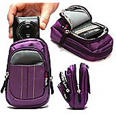 Navitech Purple Digital Camera Case Bag For The Canon IXUS 285 HS 20.2 MP Compact Digital Camera Black