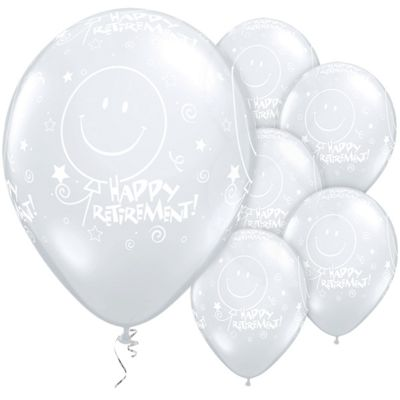 Retirement! Smile Face 11 inch Latex Balloons - 25 Pack